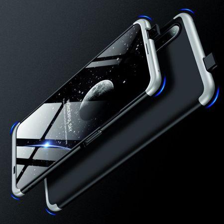 Съемный 360 GKK Матовый Жесткий Пластиковый Чехол для Huawei Honor 9X Серебро / Черный