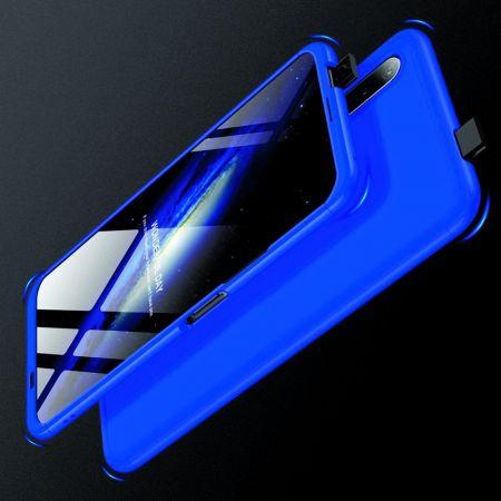 Съемный 360 GKK Матовый Жесткий Пластиковый Чехол для Huawei Honor 9X Синий