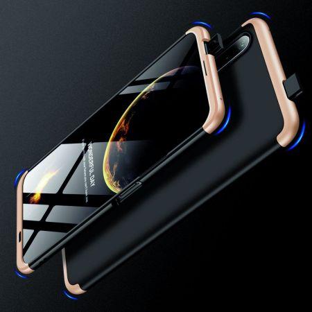 Съемный 360 GKK Матовый Жесткий Пластиковый Чехол для Huawei Honor 9X Золотой / Черный