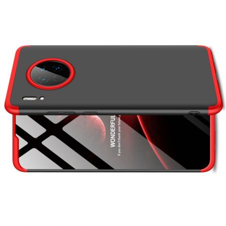 Съемный 360 GKK Матовый Жесткий Пластиковый Чехол для Huawei Mate 30 Красный / Черный