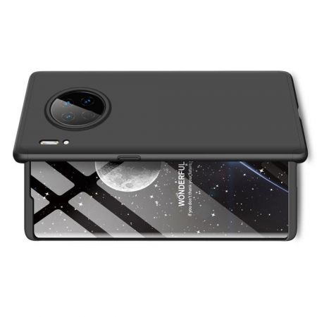 Съемный 360 GKK Матовый Жесткий Пластиковый Чехол для Huawei Mate 30 Pro Черный