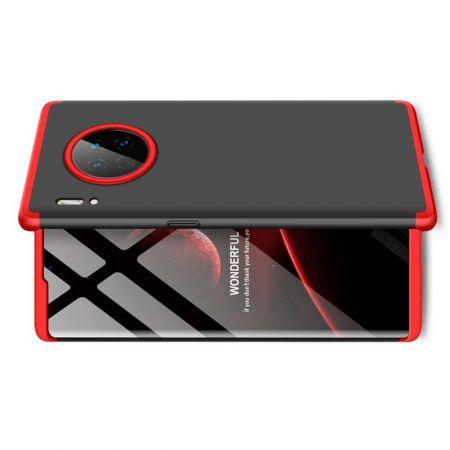 Съемный 360 GKK Матовый Жесткий Пластиковый Чехол для Huawei Mate 30 Pro Красный / Черный
