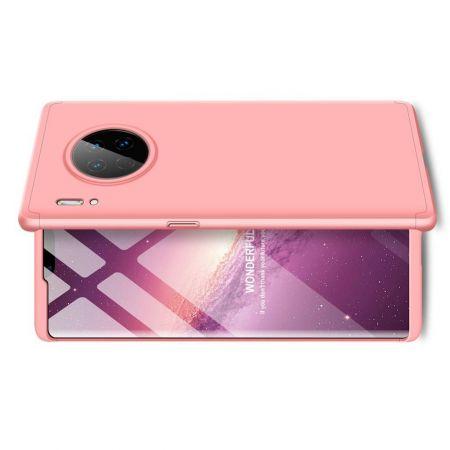 Съемный 360 GKK Матовый Жесткий Пластиковый Чехол для Huawei Mate 30 Pro Розовый