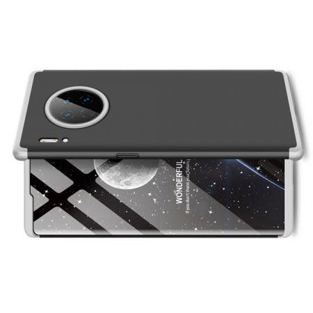Съемный 360 GKK Матовый Жесткий Пластиковый Чехол для Huawei Mate 30 Pro Серебряный