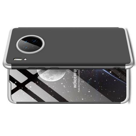 Съемный 360 GKK Матовый Жесткий Пластиковый Чехол для Huawei Mate 30 Серебряный