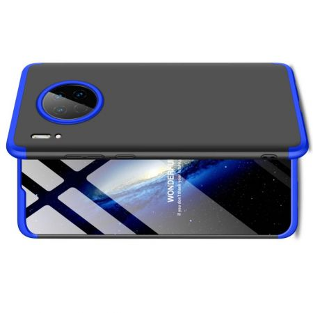 Съемный 360 GKK Матовый Жесткий Пластиковый Чехол для Huawei Mate 30 Синий / Черный