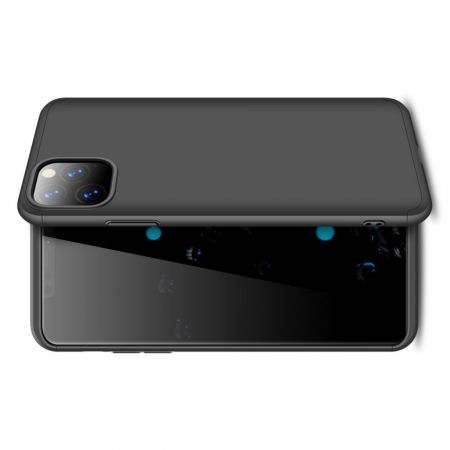 Съемный 360 GKK Матовый Жесткий Пластиковый Чехол для iPhone 11 Pro Черный