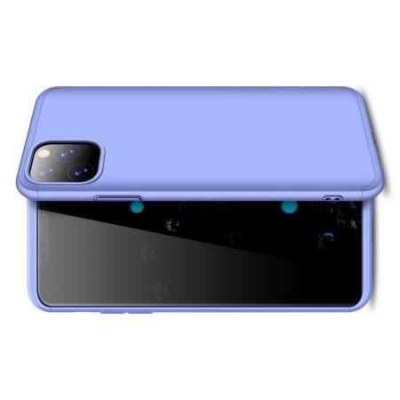 Съемный 360 GKK Матовый Жесткий Пластиковый Чехол для iPhone 11 Pro Фиолетовый