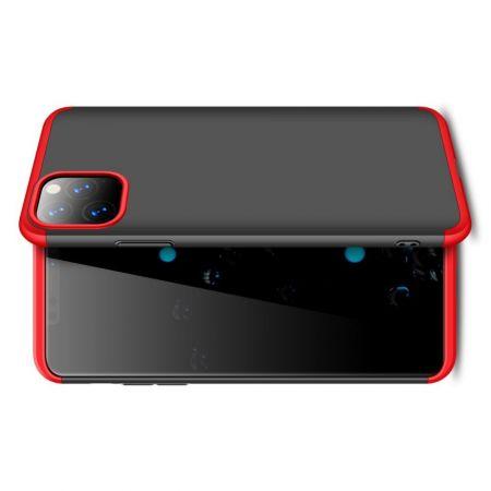 Съемный 360 GKK Матовый Жесткий Пластиковый Чехол для iPhone 11 Pro Max Красный / Черный