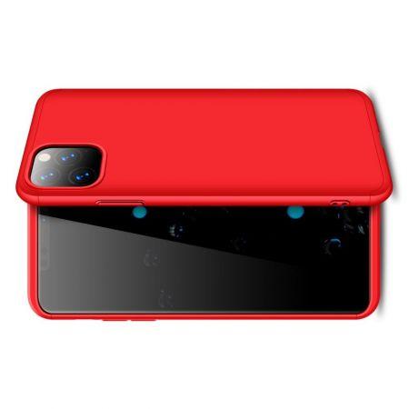 Съемный 360 GKK Матовый Жесткий Пластиковый Чехол для iPhone 11 Pro Max Красный