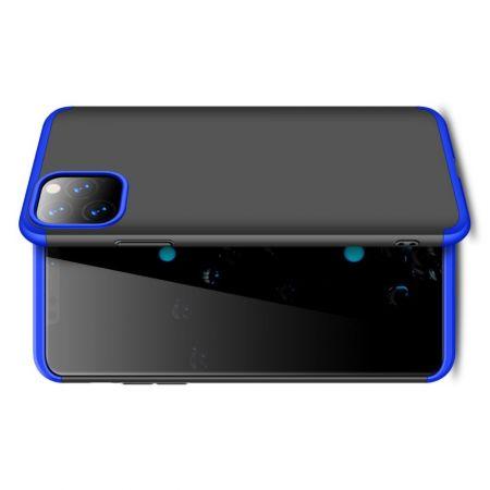 Съемный 360 GKK Матовый Жесткий Пластиковый Чехол для iPhone 11 Pro Max Синий / Черный