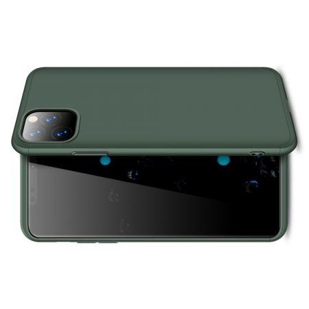 Съемный 360 GKK Матовый Жесткий Пластиковый Чехол для iPhone 11 Pro Max Зеленый