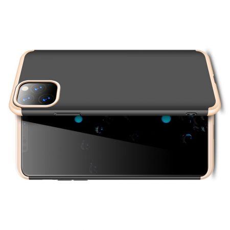 Съемный 360 GKK Матовый Жесткий Пластиковый Чехол для iPhone 11 Pro Max Золотой