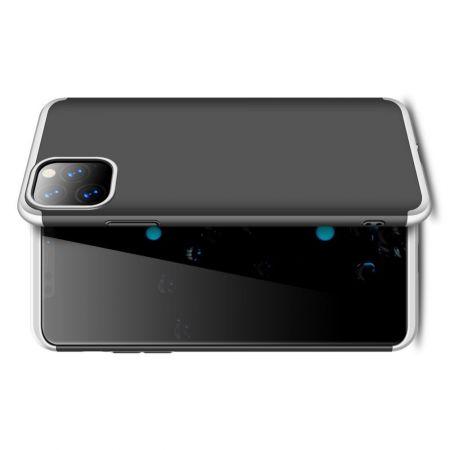 Съемный 360 GKK Матовый Жесткий Пластиковый Чехол для iPhone 11 Pro Серебряный