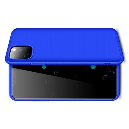Съемный 360 GKK Матовый Жесткий Пластиковый Чехол для iPhone 11 Pro Синий