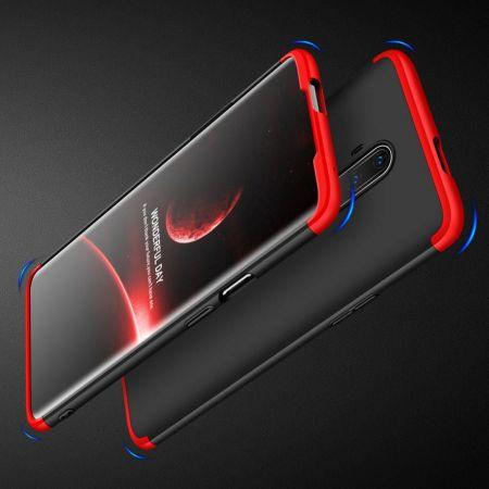 Съемный 360 GKK Матовый Жесткий Пластиковый Чехол для OnePlus 7T Pro Красный / Черный