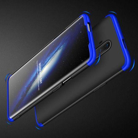 Съемный 360 GKK Матовый Жесткий Пластиковый Чехол для OnePlus 7T Pro Синий / Черный