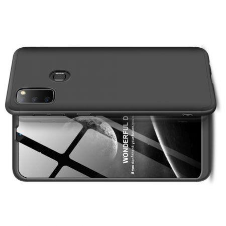Съемный 360 GKK Матовый Жесткий Пластиковый Чехол для Samsung Galaxy M30s Черный