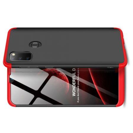 Съемный 360 GKK Матовый Жесткий Пластиковый Чехол для Samsung Galaxy M30s Красный / Черный