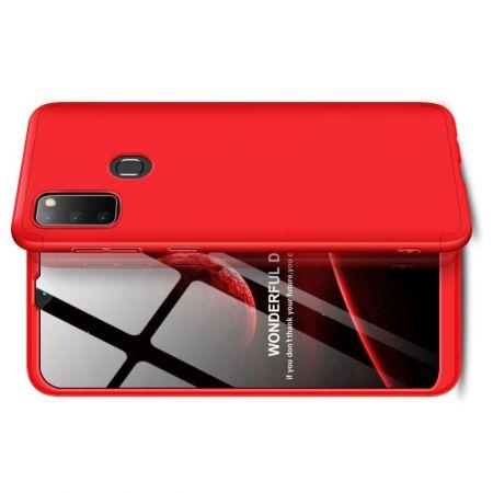 Съемный 360 GKK Матовый Жесткий Пластиковый Чехол для Samsung Galaxy M30s Красный