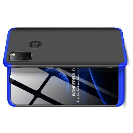 Съемный 360 GKK Матовый Жесткий Пластиковый Чехол для Samsung Galaxy M30s Синий / Черный
