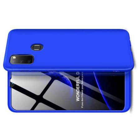 Съемный 360 GKK Матовый Жесткий Пластиковый Чехол для Samsung Galaxy M30s Синий