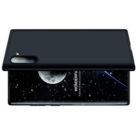 Съемный 360 GKK Матовый Жесткий Пластиковый Чехол для Samsung Galaxy Note 10 Черный
