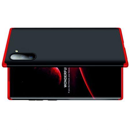 Съемный 360 GKK Матовый Жесткий Пластиковый Чехол для Samsung Galaxy Note 10 Красный / Черный