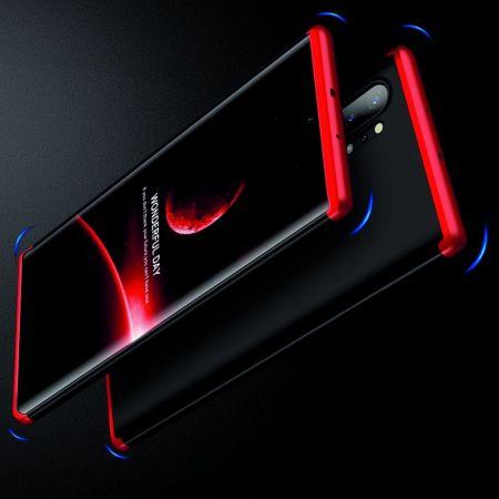 Съемный 360 GKK Матовый Жесткий Пластиковый Чехол для Samsung Galaxy Note 10 Plus Красный / Черный