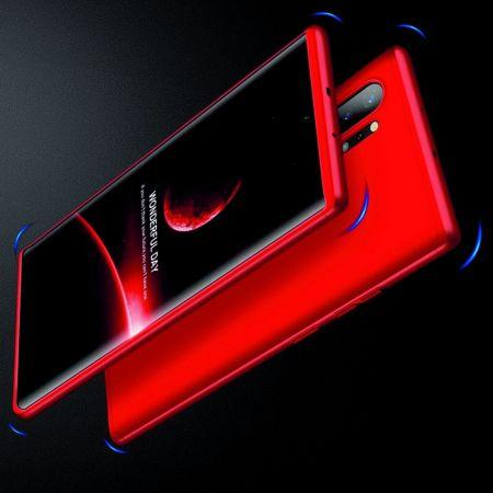 Съемный 360 GKK Матовый Жесткий Пластиковый Чехол для Samsung Galaxy Note 10 Plus Красный