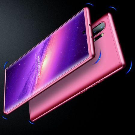 Съемный 360 GKK Матовый Жесткий Пластиковый Чехол для Samsung Galaxy Note 10 Plus Розовый