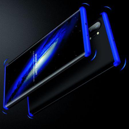 Съемный 360 GKK Матовый Жесткий Пластиковый Чехол для Samsung Galaxy Note 10 Plus Синий / Черный