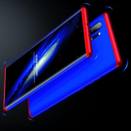 Съемный 360 GKK Матовый Жесткий Пластиковый Чехол для Samsung Galaxy Note 10 Plus Синий