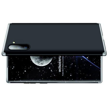 Съемный 360 GKK Матовый Жесткий Пластиковый Чехол для Samsung Galaxy Note 10 Серебро / Черный