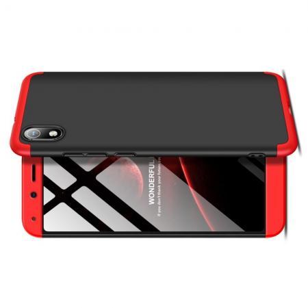 Съемный 360 GKK Матовый Жесткий Пластиковый Чехол для Xiaomi Redmi 7A Красный / Черный