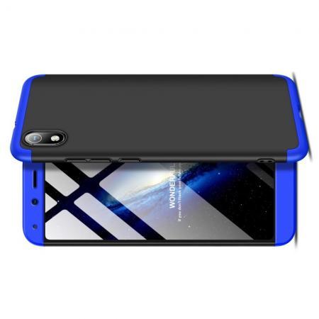 Съемный 360 GKK Матовый Жесткий Пластиковый Чехол для Xiaomi Redmi 7A Синий / Черный