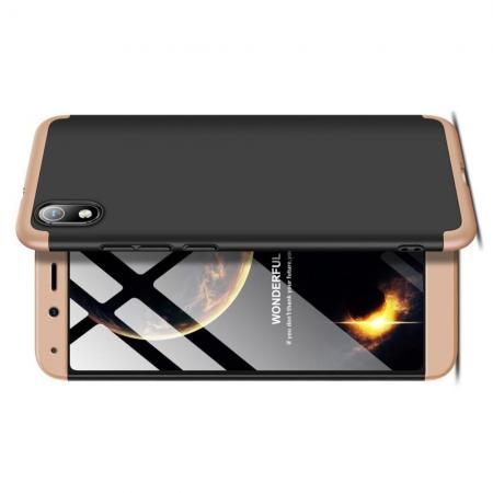 Съемный 360 GKK Матовый Жесткий Пластиковый Чехол для Xiaomi Redmi 7A Золотой / Черный