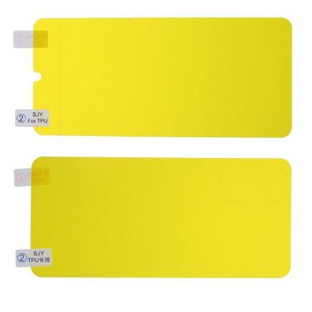 Силиконовая TPU Full Cover Защитная Пленка на Изогнутый Экран Samsung Galaxy S20 Полное Покрытие