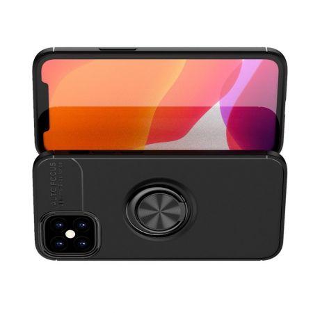 Силиконовый Чехол для Магнитного Держателя с Кольцом для Пальца Подставкой для iPhone 12 mini Черный