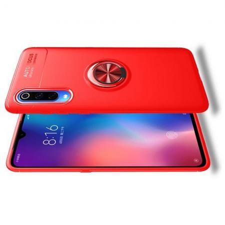 Силиконовый Чехол для Магнитного Держателя с Кольцом для Пальца Подставкой для Xiaomi Mi 9 Красный