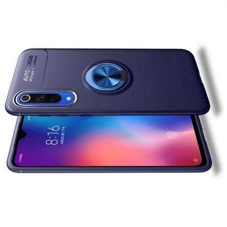 Силиконовый Чехол для Магнитного Держателя с Кольцом для Пальца Подставкой для Xiaomi Mi 9 SE Синий