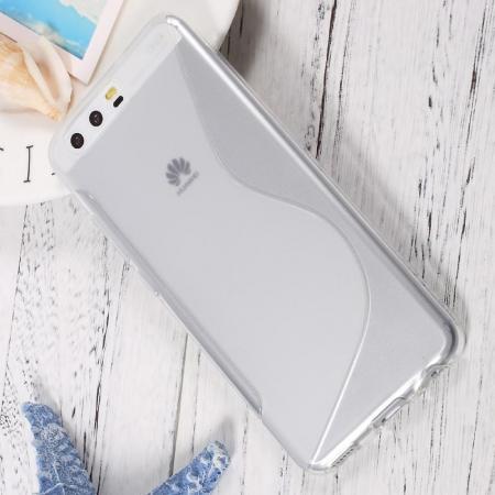 Силиконовый с Рисунком Гель Чехол для Huawei P10 Серый