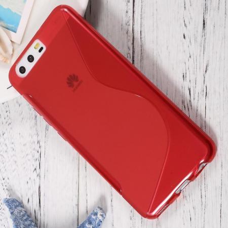 Силиконовый с Рисунком Гель Чехол для Huawei P10 Красный