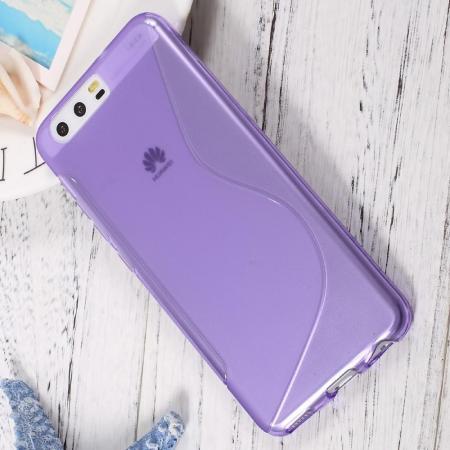 Силиконовый с Рисунком Гель Чехол для Huawei P10 Фиолетовый