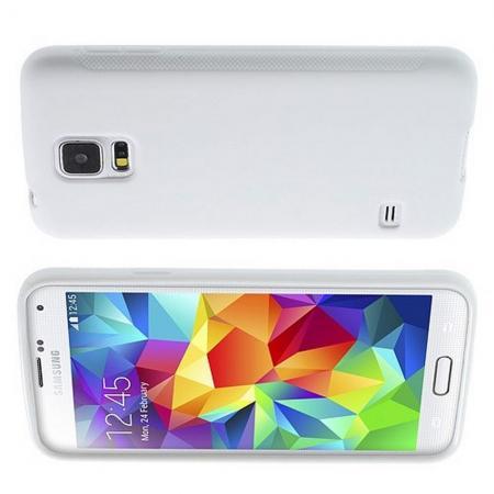 Силиконовый с Рисунком Гель Чехол для Samsung Galaxy S5 Белый