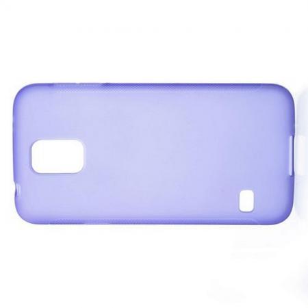 Силиконовый с Рисунком Гель Чехол для Samsung Galaxy S5 Фиолетовый