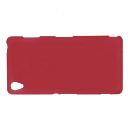 Силиконовый с Рисунком Гель Чехол для Sony Xperia Z3 Красный