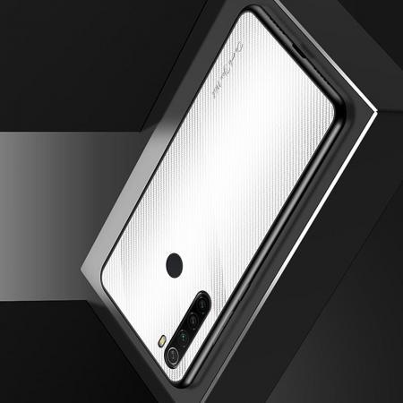 Силиконовый Стеклянный Белый Градиентный Корпус Чехол для Телефона Xiaomi Redmi Note 8