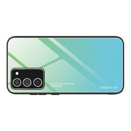 Силиконовый Стеклянный Черный Градиентный Корпус Чехол для Телефона Samsung Galaxy A52