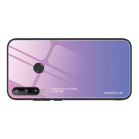 Силиконовый Стеклянный Светло Розовый Градиентный Корпус Чехол для Телефона Huawei P40 lite E